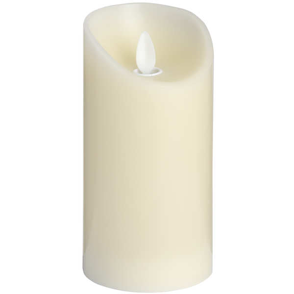3 x 6 Cream Flickering Flame LED Wax Candle