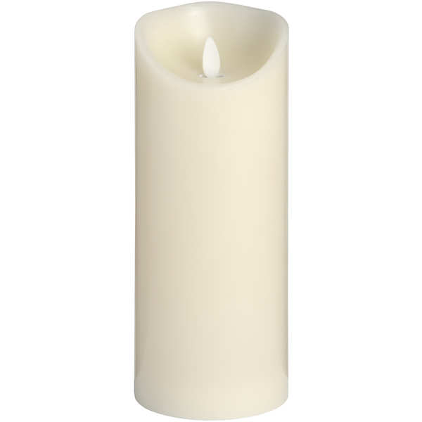 3.5 x 9 Cream Flickering Flame LED Wax Candle