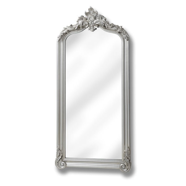 Full length brushed silver carved mirror from hill interiors for Silver full length mirror