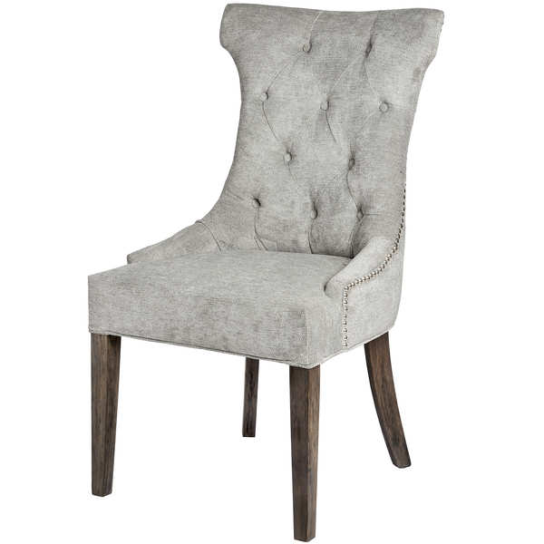 Silver High Wing Ring Backed Dining Chair