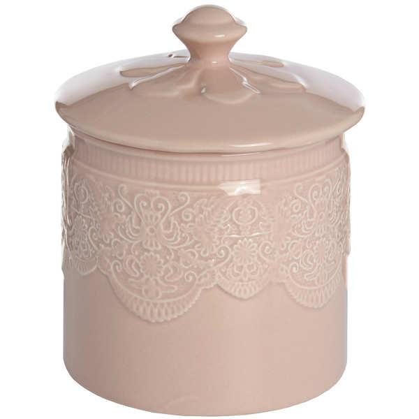 Peach Porcelain Storage Trinket Jar