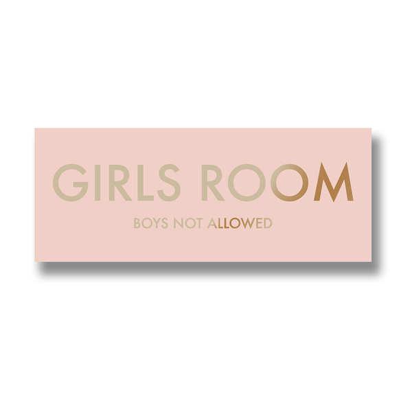 Girls Room Metalic Detail Plaque