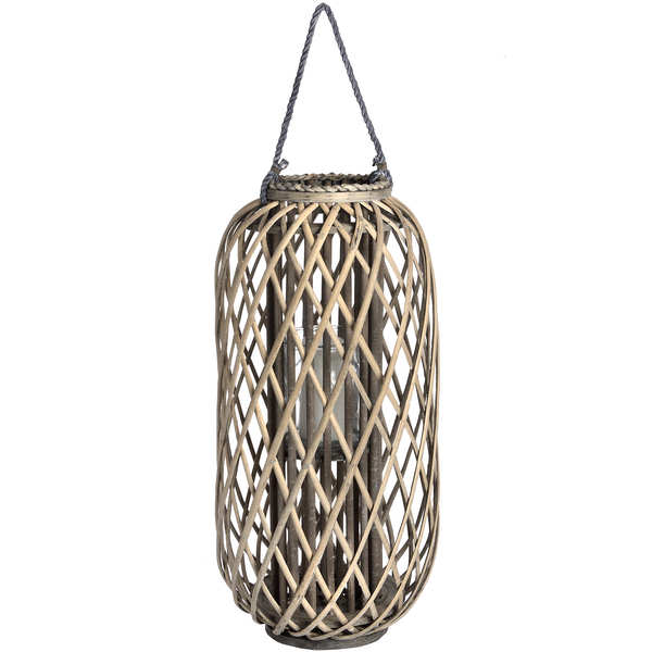 Large Standing Wicker Lantern