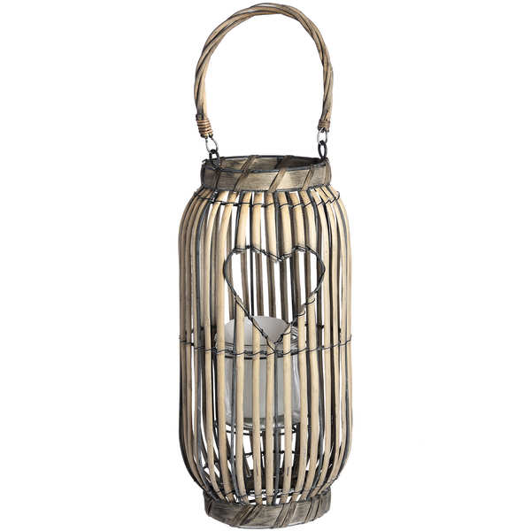 Standing Lantern with Heart Detailing