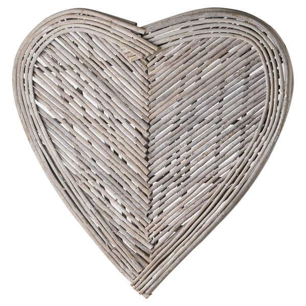 Medium Heart Wicker Wall Art