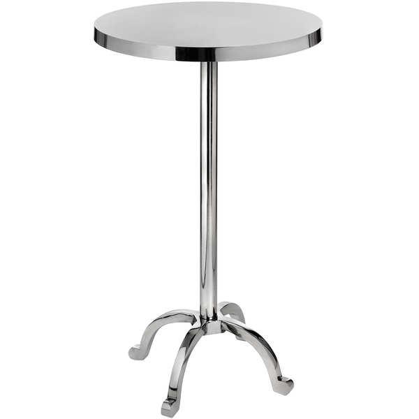 Polished Nickel Cocktail Bar Table