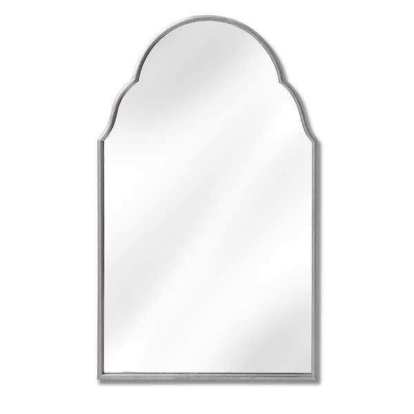 Arabesque Design Silver Wall Mirror