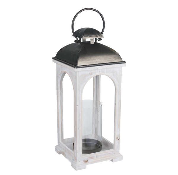 Large Antique White Church Inspired Lantern