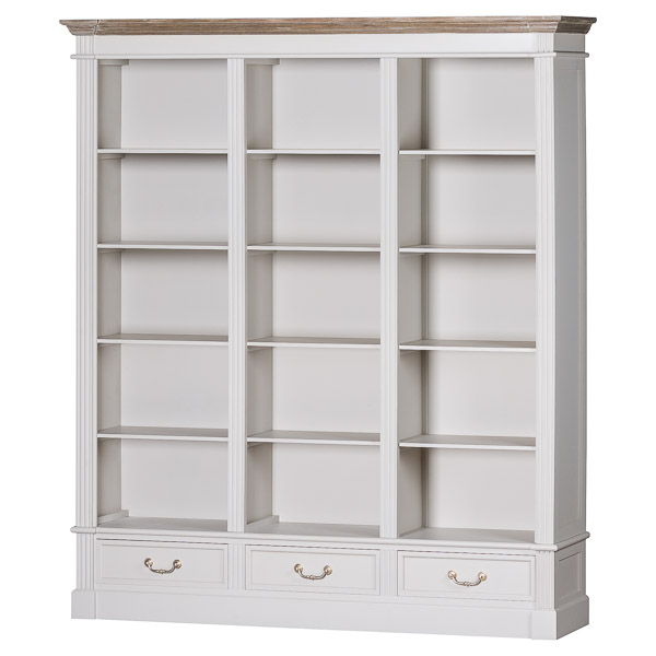 The Liberty Collection Large Three Drawer Display Bookcase