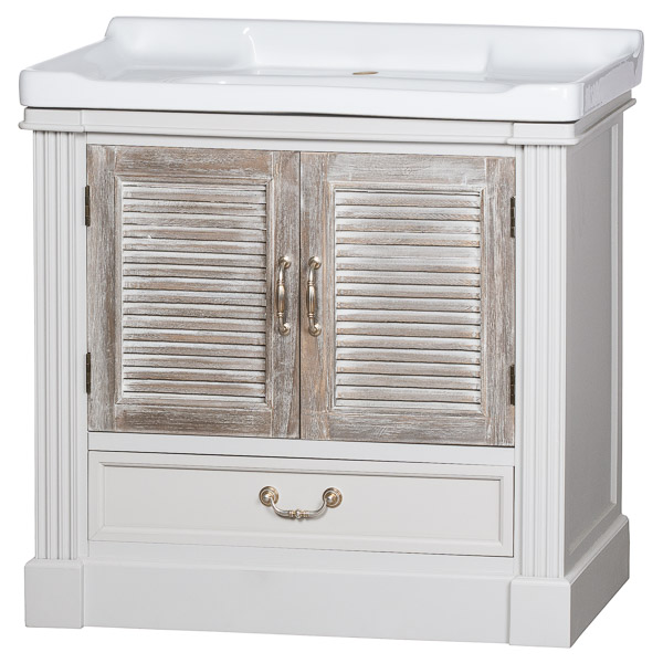 The Liberty Collection Vanity Sink Unit With Louvered Doors