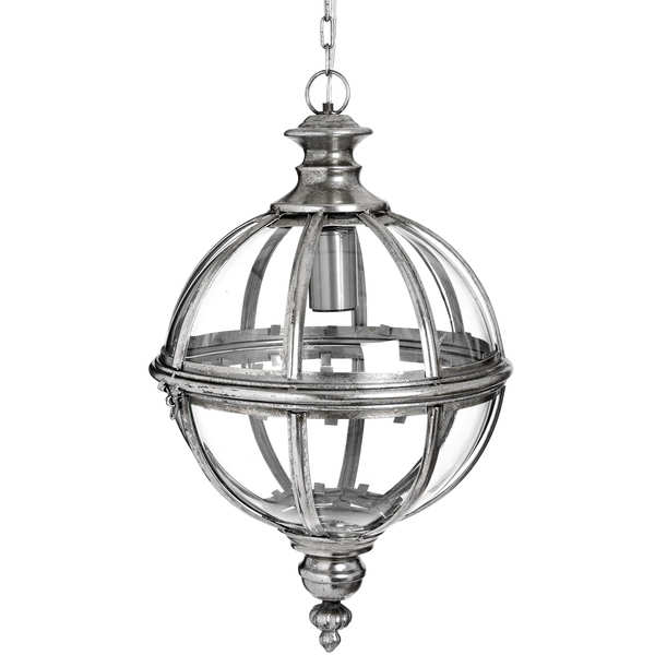 Spheric Pendant Lamp In Silver