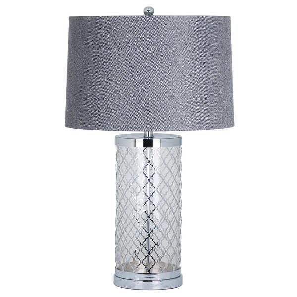 The Comoros Chrome Arabesque Table Lamp