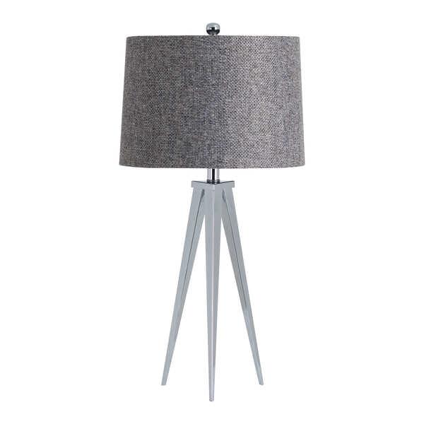 The Genoa Chrome Tripod Table Lamp