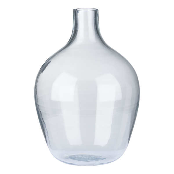 Large Hour Glass Clear  Vase