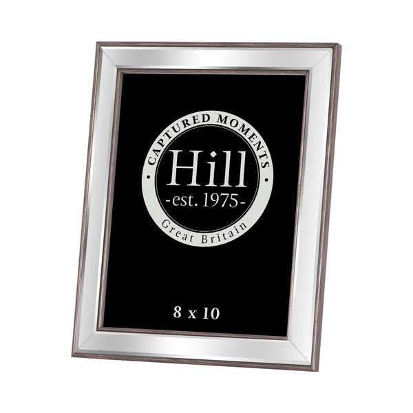 Champagne Edged Bevelled Mirror Photo Frame 8X10