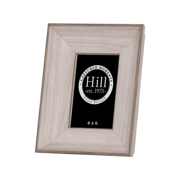 White Washed Wood Photo Frame 4X6