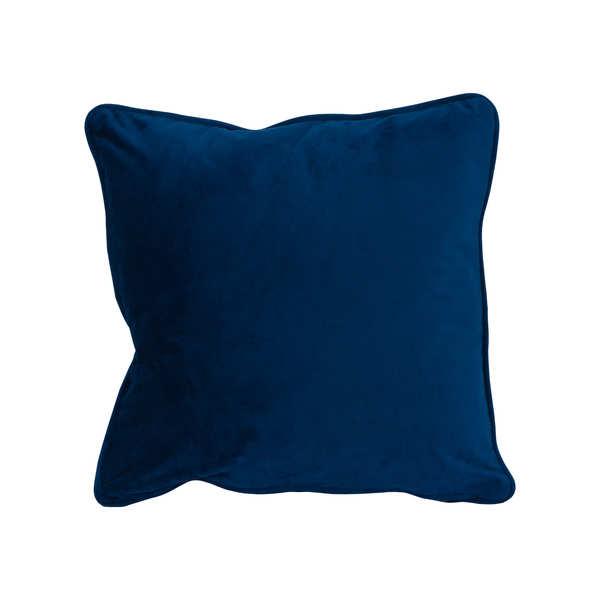 Navy Velvet Cushion 45X45Cm
