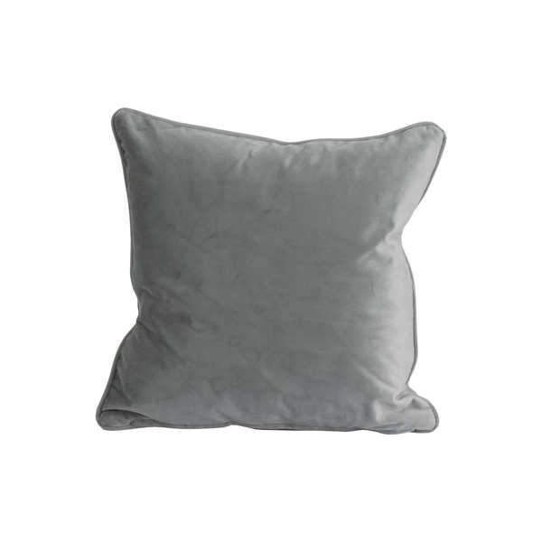 Grey Velvet Cushion 45X45Cm