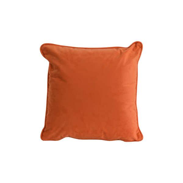 Orange Velvet Cushion 45 x 45cm
