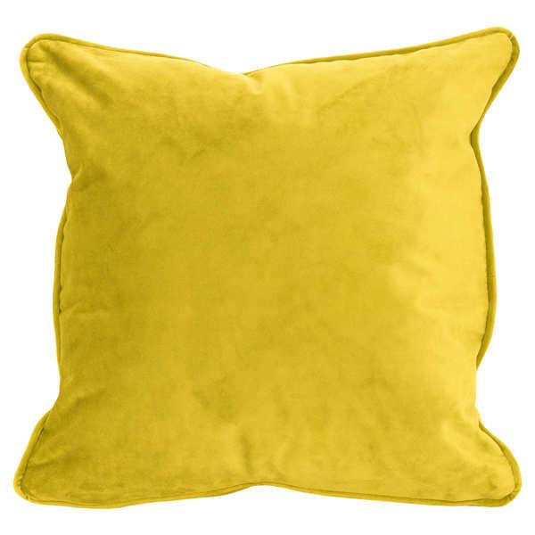 Mustard Velvet Cushion 45X45Cm