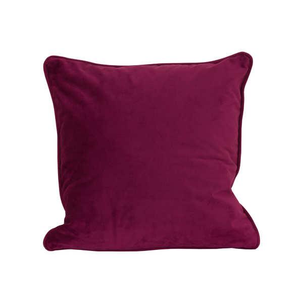 Aubergine Velvet Cushion 45 x 45cm