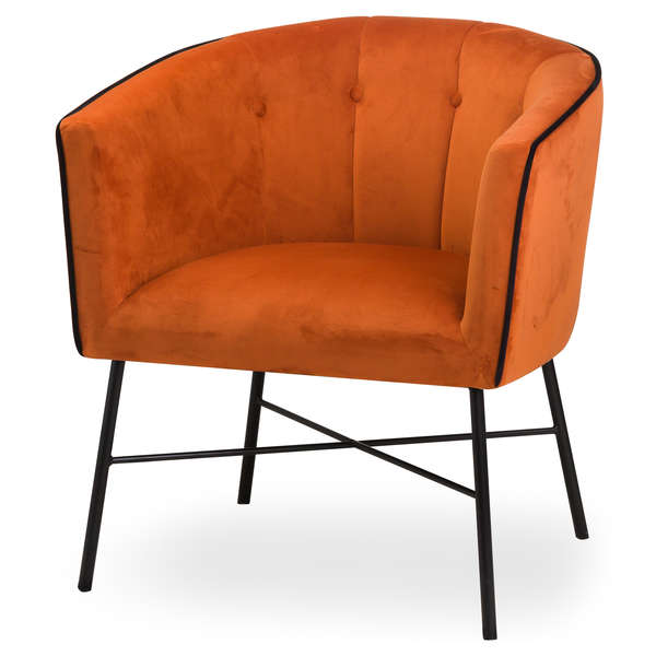 Rust Velvet Urban Tub Chair