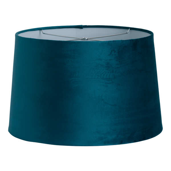 Teal Velvet Shade With Harp Fitting