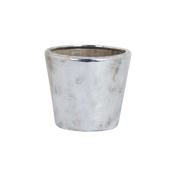 Small Metallic Ceramic Planter