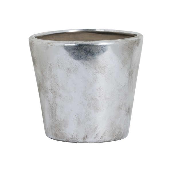 Medium Metallic Ceramic Planter
