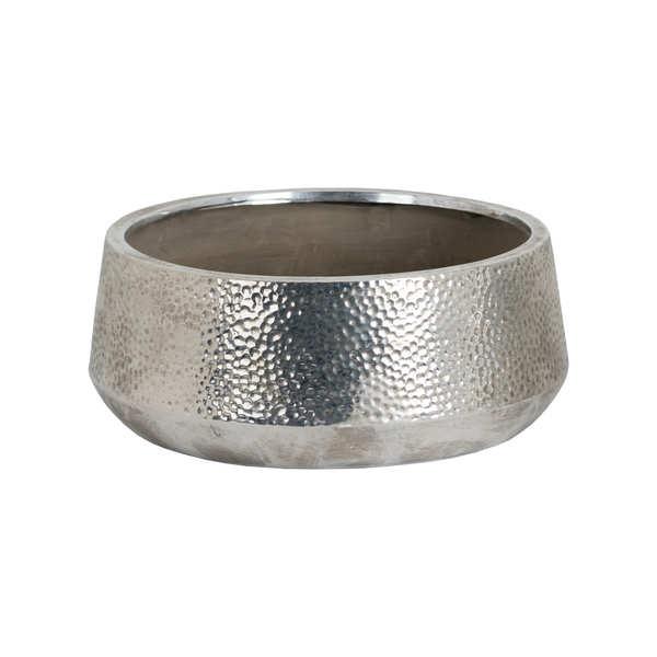 Metallic Ceramic Tapered Bowl