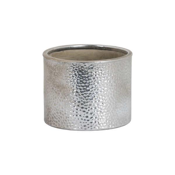 Metallic Ceramic Cylindrical Planter