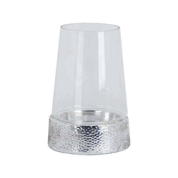 Metallic Ceramic Cylindrical  Hurricane Lantern