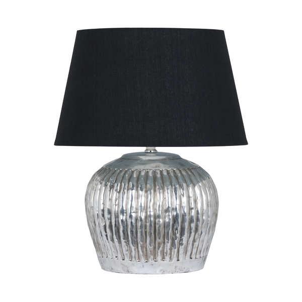 Firenza Silver Ceramic Table Lamp