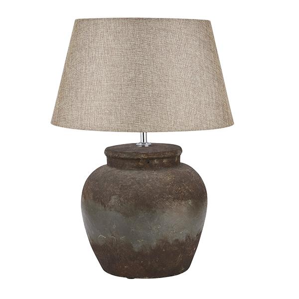 Castello Aged Stone Ceramic Table Lamp