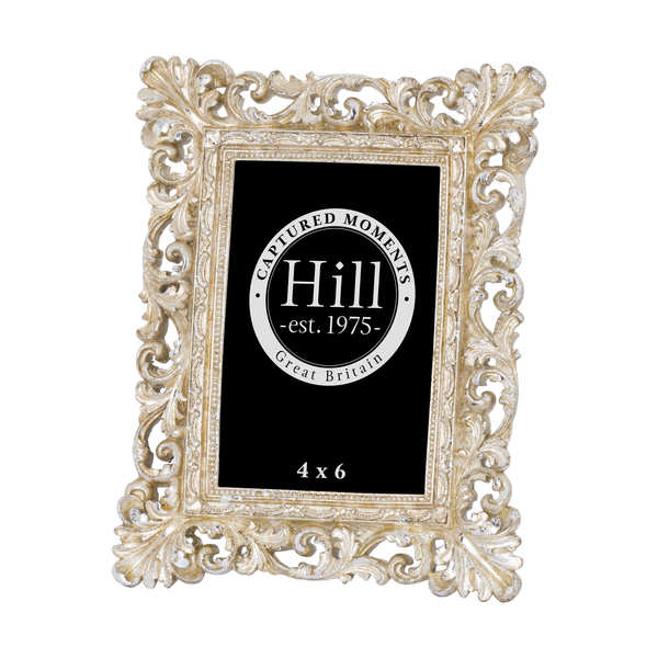 Antique Champagne Ornate Cut Out Photo Frame 4X6