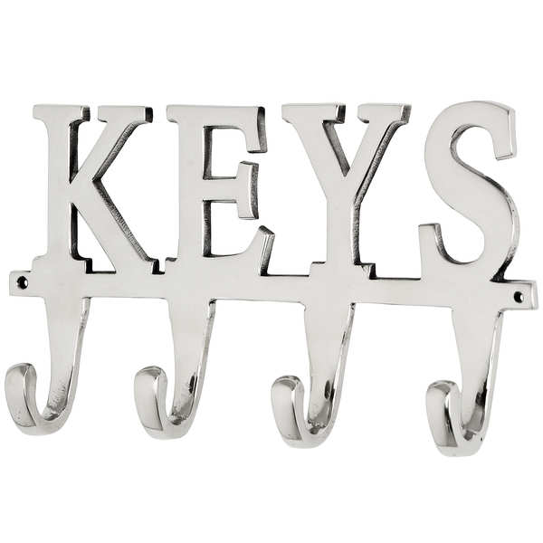 Large Nickel Key Hooks