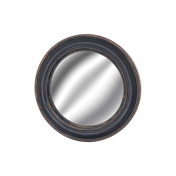 Small Black Framed Convex Mirror