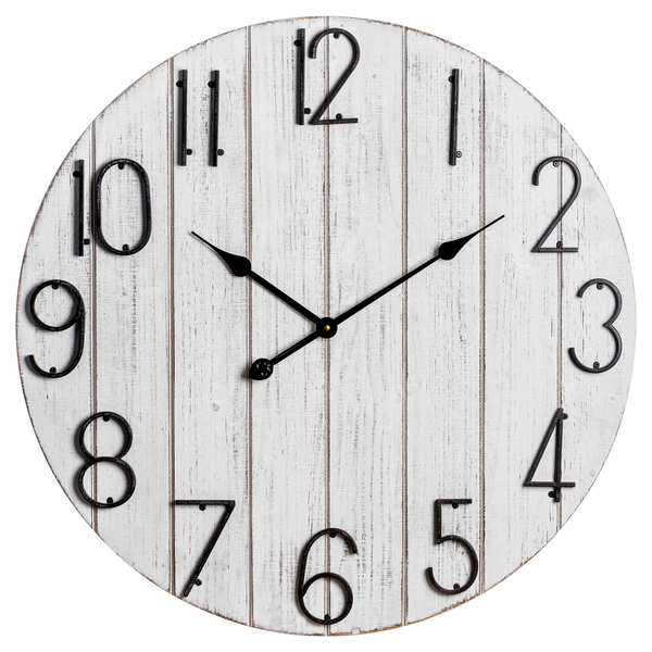 Rustic Retro Plank Design Wall Clock