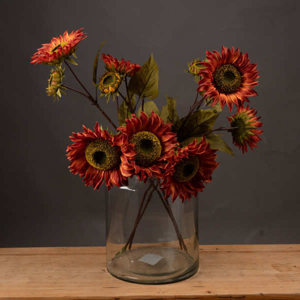 Autumn Red Sunflower Spray