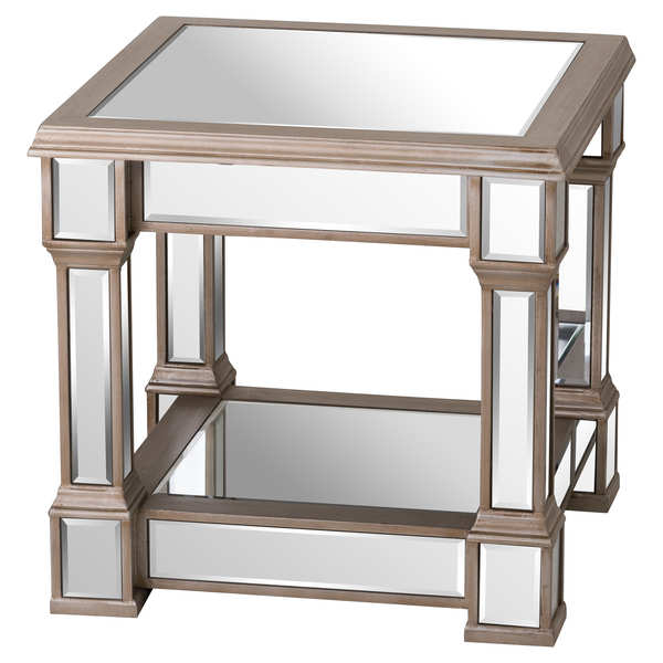 The Belfry Collection Mirrored Side Table