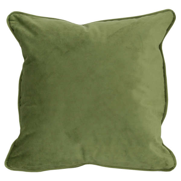 Light Green Velvet Cushion 45 x 45cm