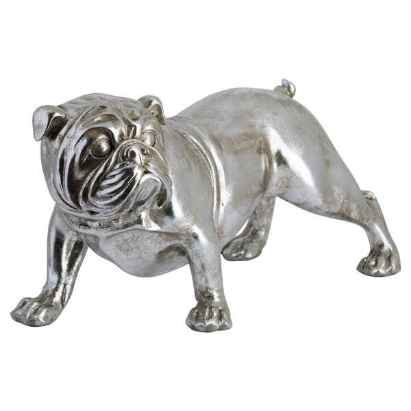 Winston The Bulldog Antique Silver Ornament