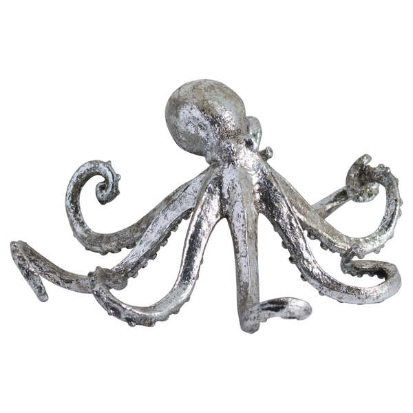 Antique Silver Octopus Ornament
