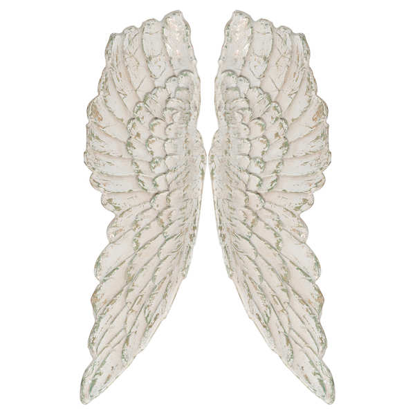 Antique White Large Angel Wings