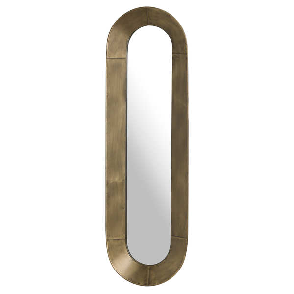 Antique Bronze Curved Long Mirror
