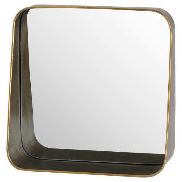 Antique Bronze Shelf Mirror