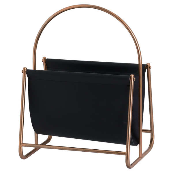 Copper Finish Magazine Rack