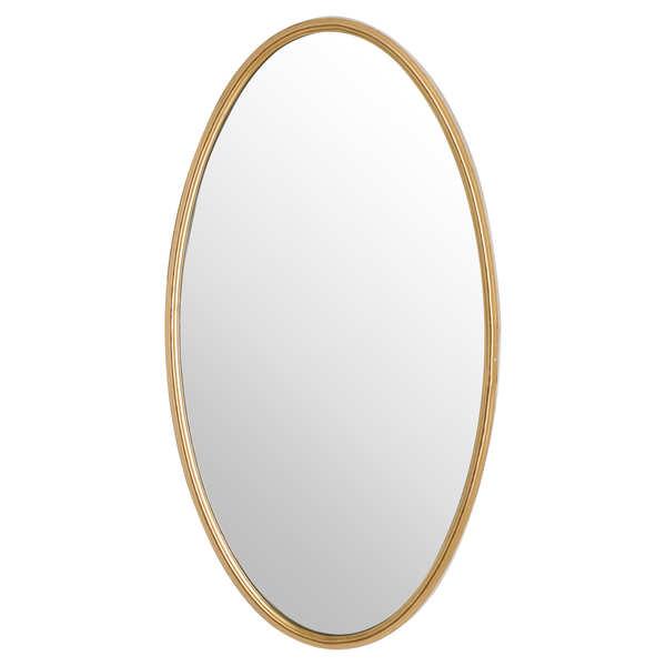 Antique Bronze Oval Mirror