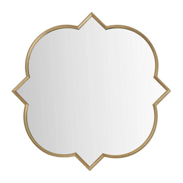 Antique Bronze Quarterfoil Mirror