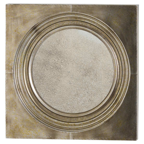 Stratton Bronze Mirror With Antique Glass